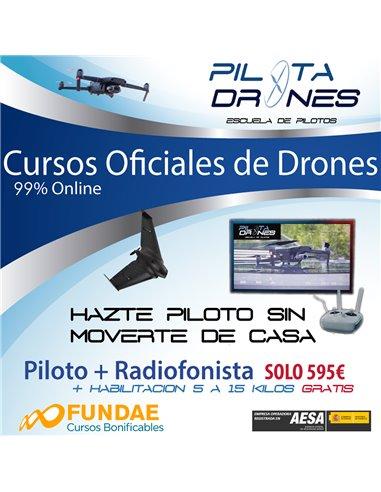 Curso Piloto Avanzado de Drones + Radiofonista Oficial - 99% ONLINE